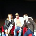Con Didi Leoni e Luca Maria Brogli a fine serata al Teatro Traiano